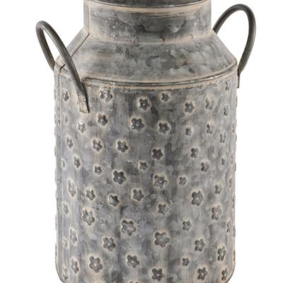Floral Metal Urn