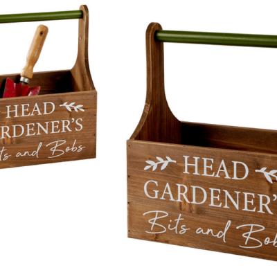Wooden Gardener's trug for bits and bobs