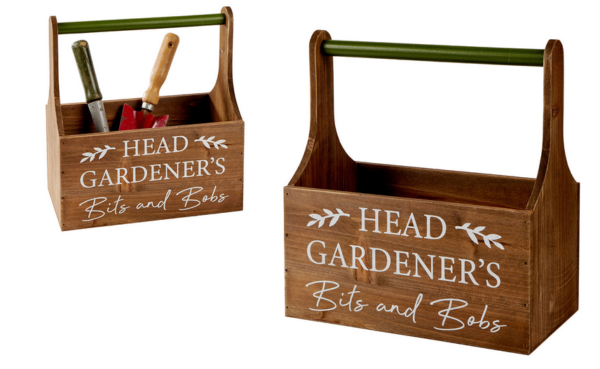 Wooden Gardener's trug for bits and bobs