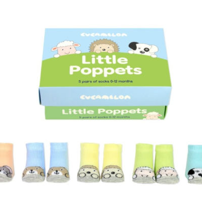 5 pairs of little poppet pastel baby socks