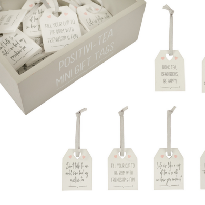 mini positivity notes on tea tags