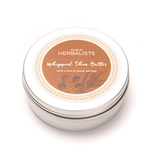 Whipped Shea Butter with a hint of sweet almond oil in a 200ml tin