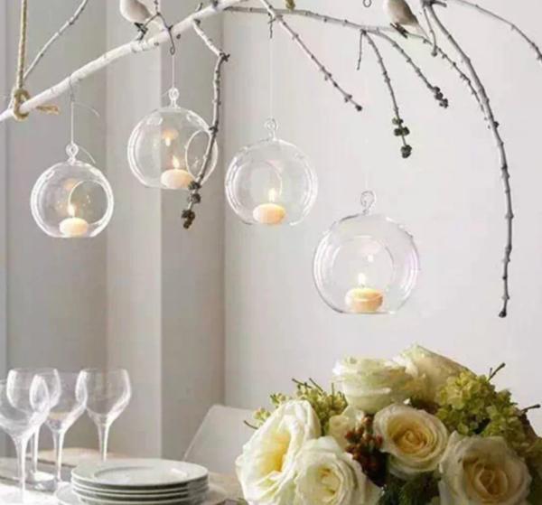 Hanging Tea Tree light holders