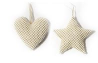 Woven effect gold hanging baubles