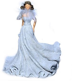 Angel with flowing dress