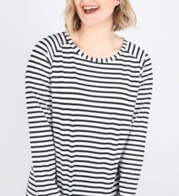 Chalk Robyn Stripe Black