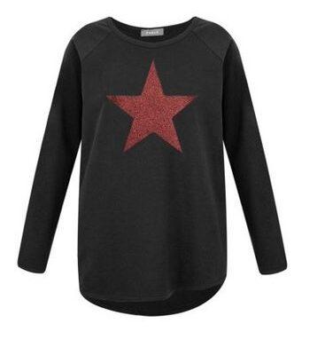 Chalk Tasha Black with red star