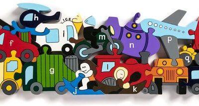 Alphabet Transport Jigsaw