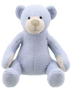 wilberry blue knitted bear