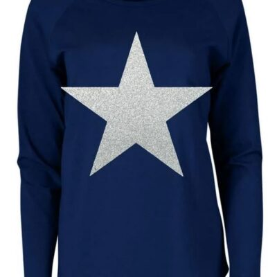 navy tasha with white sparkle star