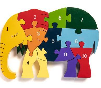 number elephant jigsaw