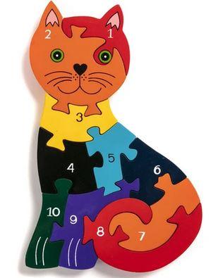 cat number jigsaw