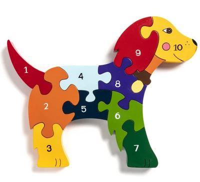 Dog number jigsaw
