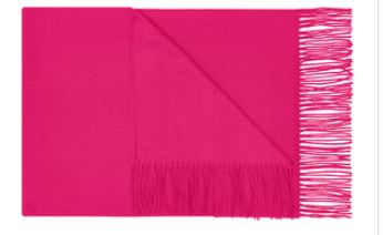 fuscia colour block scarf