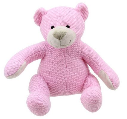 pink knitted bear