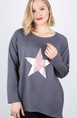 Robyn Charcoal with rose gold star