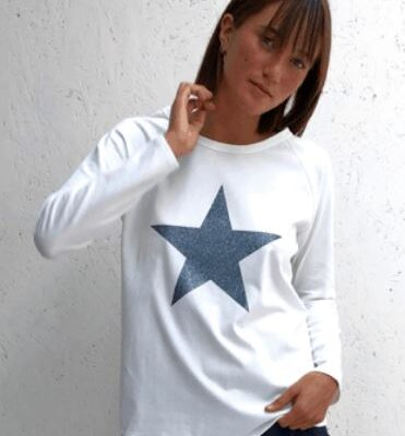 Robyn white with metal star