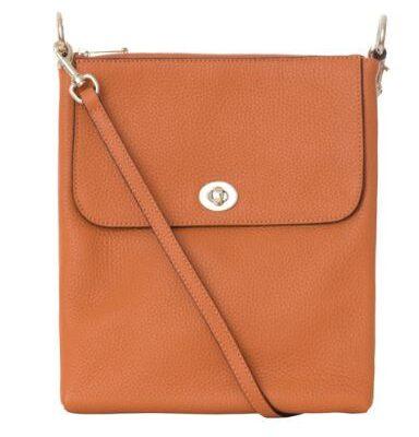Burnt Orange Cross Over Handbag