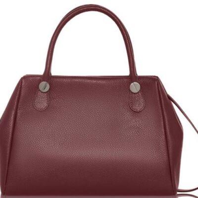 Burgundy Leather Handbag