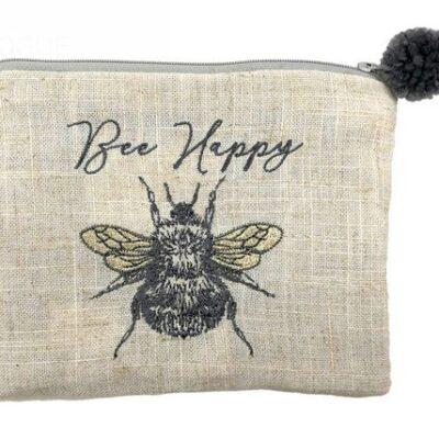 Bee Pom Pom Pouch