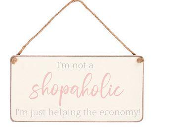 shopaholic plaque