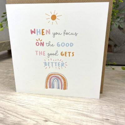 Focus on the good card