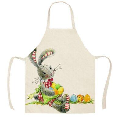 Rabbit and chicks apron