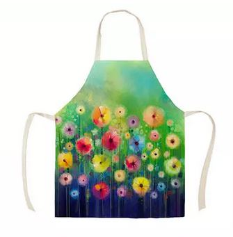colourful poppies apron