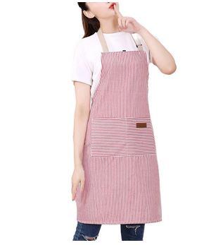 Red white stripe apron